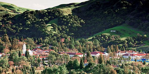 美国加州圣玛丽大学校园全景